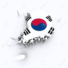 Korea Flag Image South Korea Flag On 3d Map Stock Photo Picture And Royalty Free