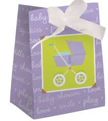 baby shower favor bags purple baby carriage favor bags for baby shower baby shower