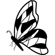 butterfly side view with irregular wings design icons free
