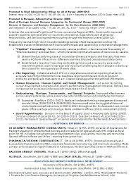 chief administrative officer resume police administration sample