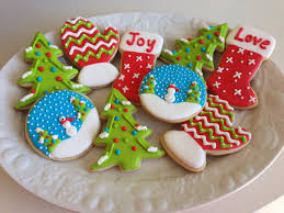 christmas sugar cookies with royal icing u2013 happy holidays