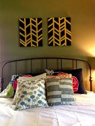 how to make diy wall art dark patterned pillows wooden flooring