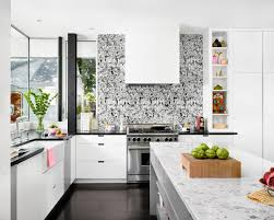Tropical Kitchen Design by Examples Of Unique Wallpapers And How Its Placement On A Kitchen