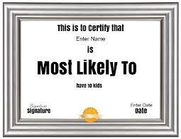Prize Certificate Template Superlative Certificate Template Certificate Street Free Award