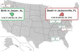 Bristol Tennessee Map by See The Birth And Death Of Americans In A Real Time Simulation Of