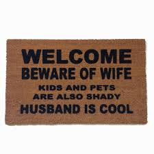 doormat funny husband is cool beware of wife funny doormat gifts for
