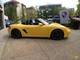 yellow porsche boxster speed yellow 2005 porsche boxster standard boxster model exterior