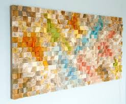 wood wall art geometric wood art sale mosaic mid century