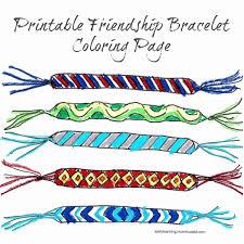 friendship bracelet printable coloring page preschool activities