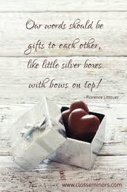 silver boxes with bows on top let your words be like silver boxes with bows on top gifts of