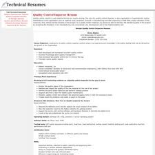 Qa Qc Inspector Resume Sample by Resume Sample For Quality Control Inspector Ammu420 Tk