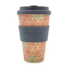 Coffee Cup swirl 14oz ecoffee cup no excuse for single use