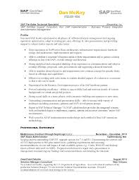 ideas collection sap crm resume samples also summary gallery