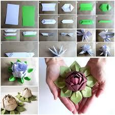 cara membuat origami bunga yang indah bunga lotus atau teratai origami ini sungguh indah gimana cara