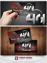dj 44 business card by hamdan graphics on deviantart