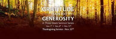 stories of gratitude and generosity baptist church