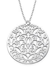 silver vintage necklace images Sterling silver vintage filigree necklace modli jpg