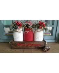 christmas savings on mason jar centerpiece rustic christmas decor