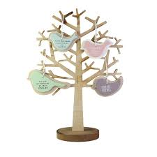 family vintage wooden tree decoration 47 5x32cm