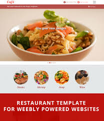 cafe theme modern restaurante template for weebly websites