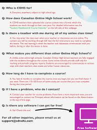 is online high school questions about the canadian online high school check it out