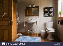 main bathroom inside a country cottage style residential home