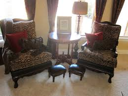 leopard print accent chair for exotic room taste u2014 new teak