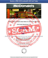 survey for gift cards survey scam free 250 mcdonalds gift card