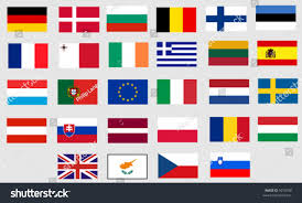 All The States Flags Flags All Twentyseven Member States European Stock Vector 5076298