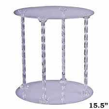 acrylic cake stands acrylic 4 pillar cake stand efavormart