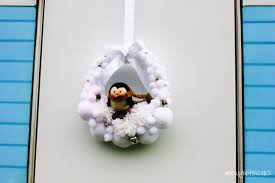 decoration diy snowball wreath deck the door diy snow