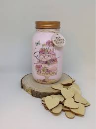 wedding wish jar our wedding wishes jar personslised memory jar wedding guest
