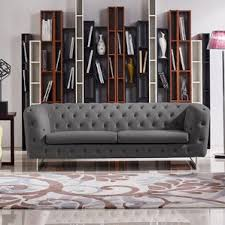 Vintage Tufted Sofa by Novogratz Vintage Tufted Sofa Wayfair