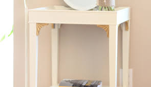 ivory accent table ivory and gold dipped accent table the salvaged boutique