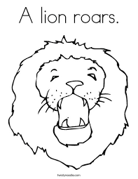 lion roars coloring twisty noodle