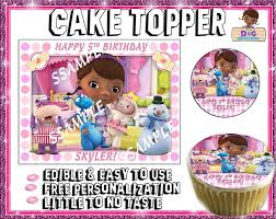 doc mcstuffin cake toppers doc mcstuffins edible cake toppers picture sugar tops paper image