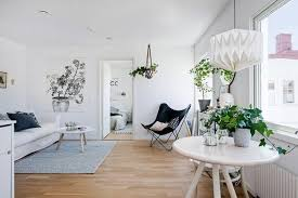 black white decorating ideas in scandinavian style to make small
