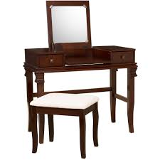 Linon Bunk Bed Linon Angela Vanity Set Including Mirror And Stool Walnut Brown