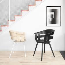design house stockholm wick chair black seat black legs houseology