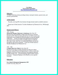Catering Resume Samples by Attractive But Simple Catering Manager Resume Tricks