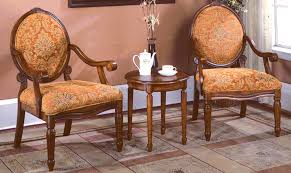 Traditional Accent Chair Kf0024 3 Pcs Traditional Accent Chair Set