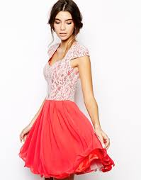 chi chi london lace prom dress with sweetheart neck in red lyst
