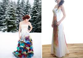 coloured wedding dresses uk the alternative wedding dress and colourful couture by wai