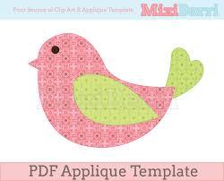 applique patterns bird applique template pdf instant