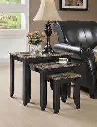 amazon com monarch specialties 3 piece marble look top nesting