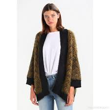selected femme selected femme sfmaline cardigan golden brown black navy