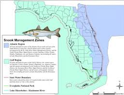 Map Of Southwest Fl Snook Season In Gulf Waters And Florida Keys