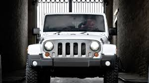 white jeep sahara 2 door jeep wrangler 4 slot front grille accessory by kahn design