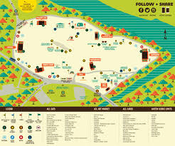 Festival Map Acl Festival Map Map Of Austin Acl Festival Texas Usa