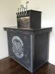 Kegregator Vintage Crate Looking Home Brew Keezer Kegerator With 5 Pipe